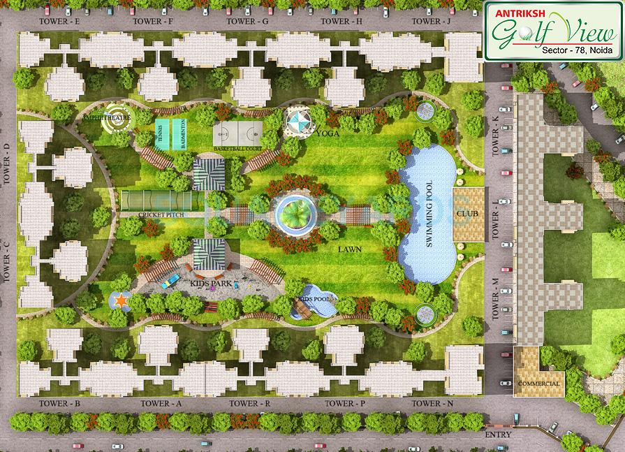 antriksh golf view master plan image1
