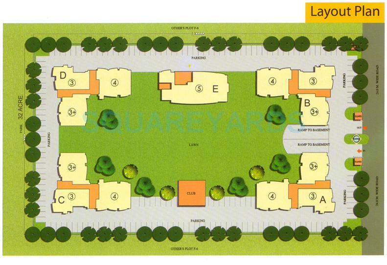 antriksh green master plan image1
