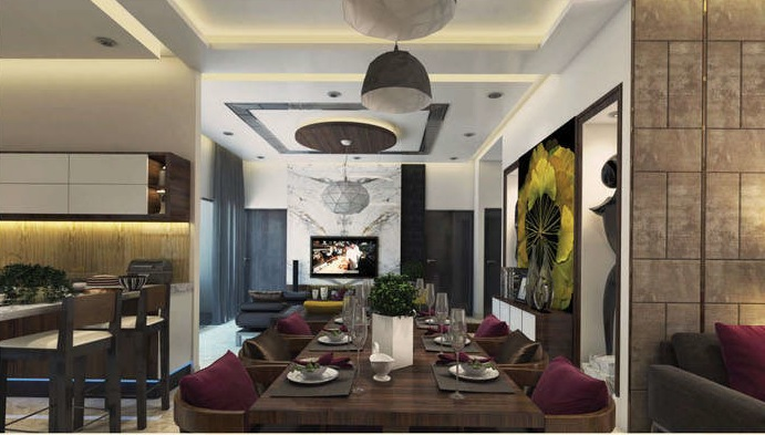 antriksh the golf address project apartment interiors2