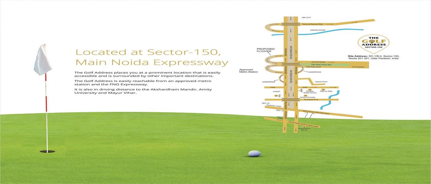 antriksh the golf address project location image1