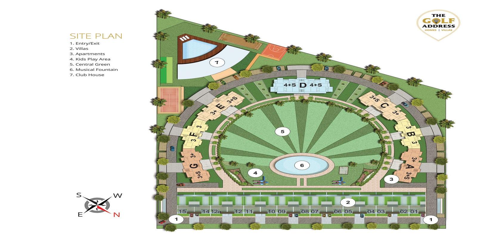 antriksh the golf address project master plan image1