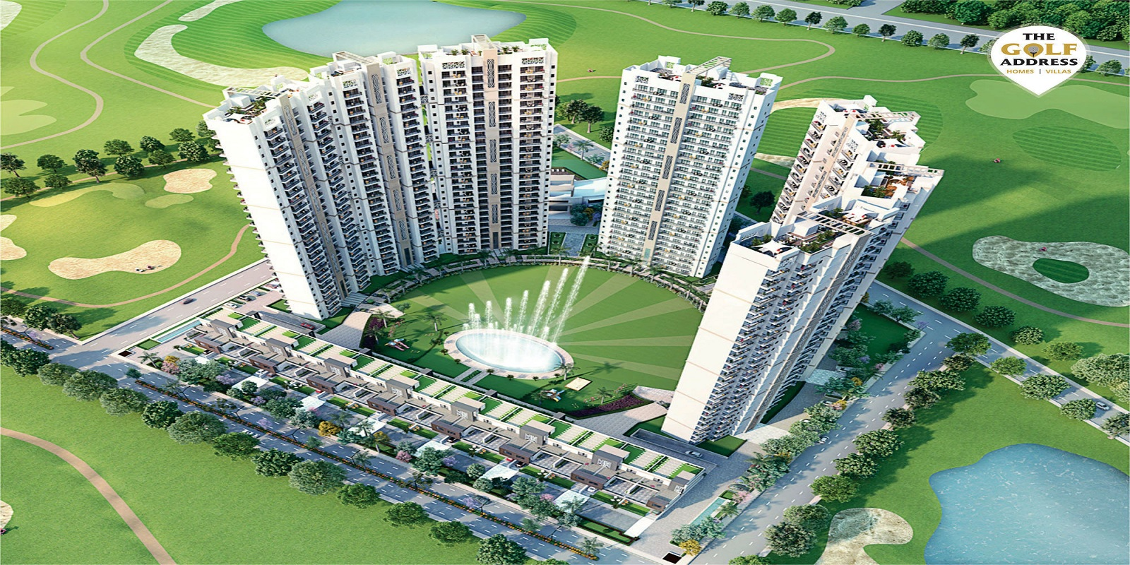 antriksh the golf address project tower view1