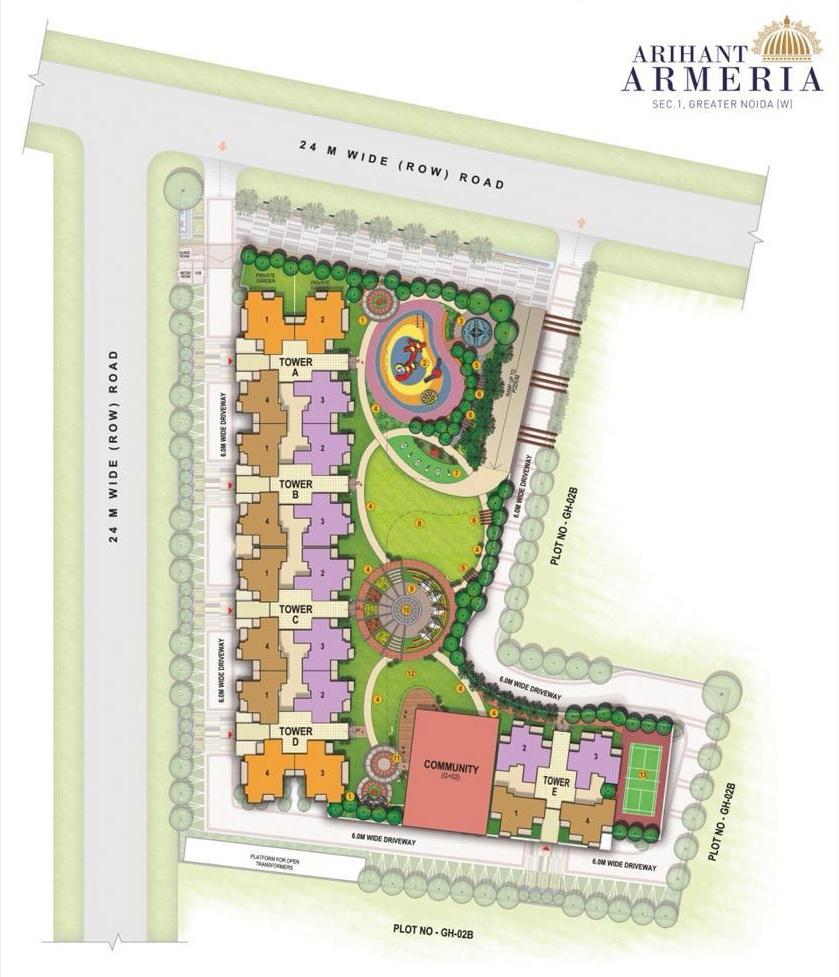 arihant armeria master plan image5