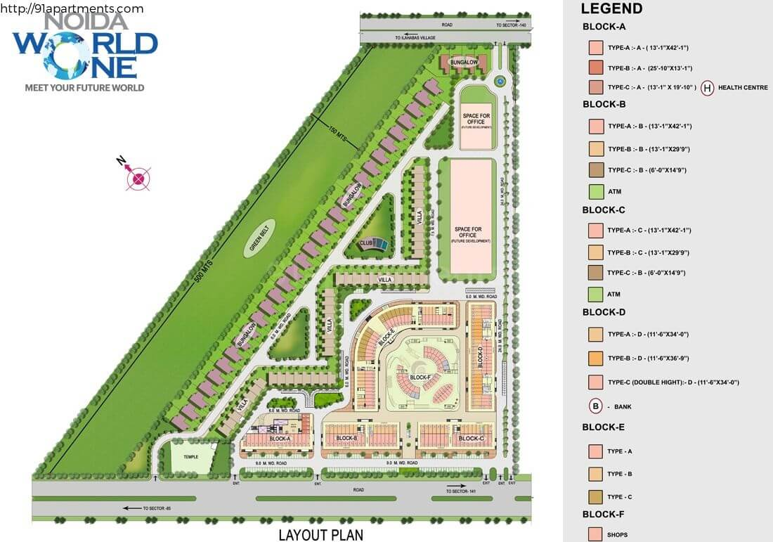 cbs noida world one master plan image1