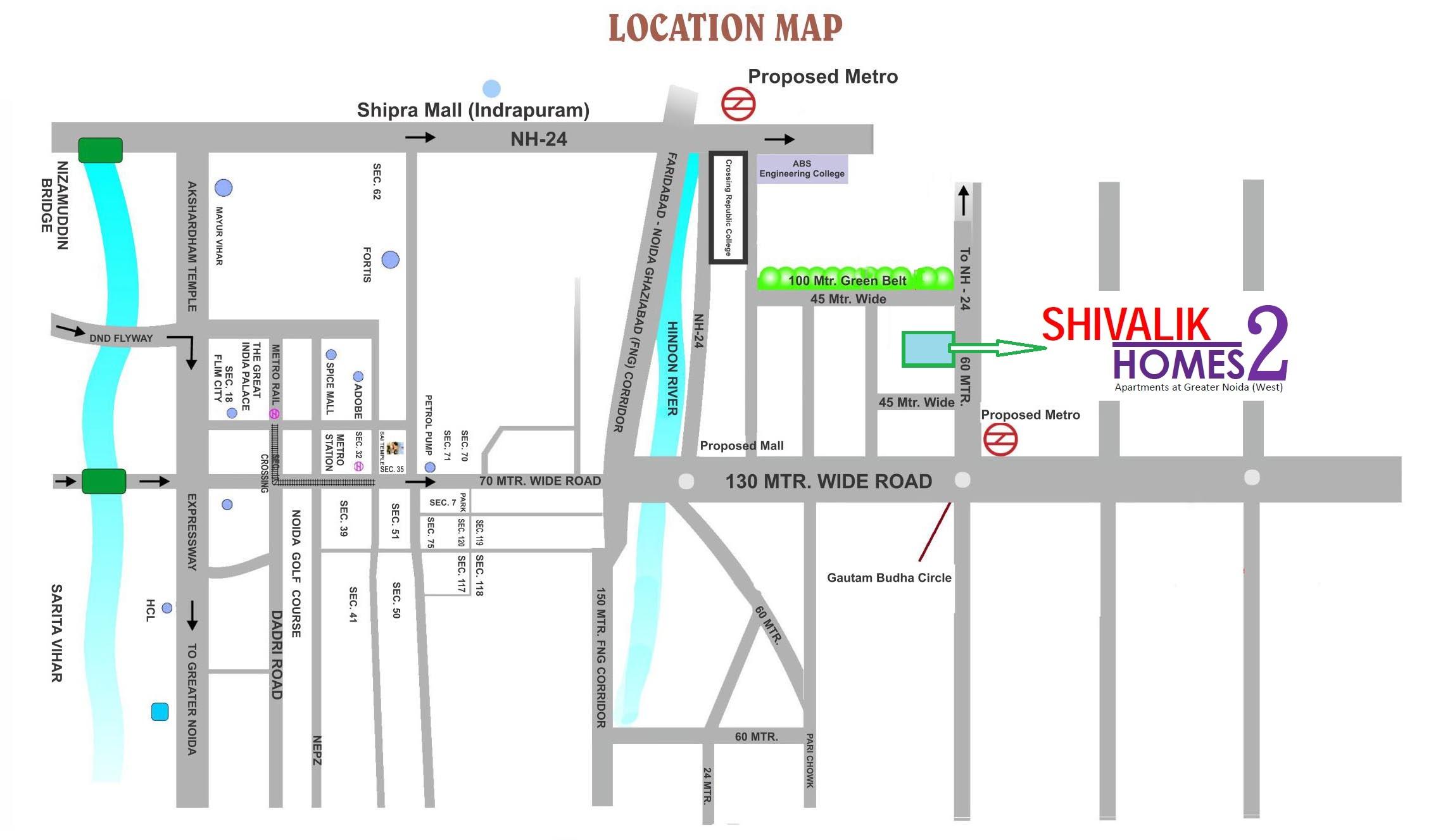 cosmos shivalik homes 2 location image1