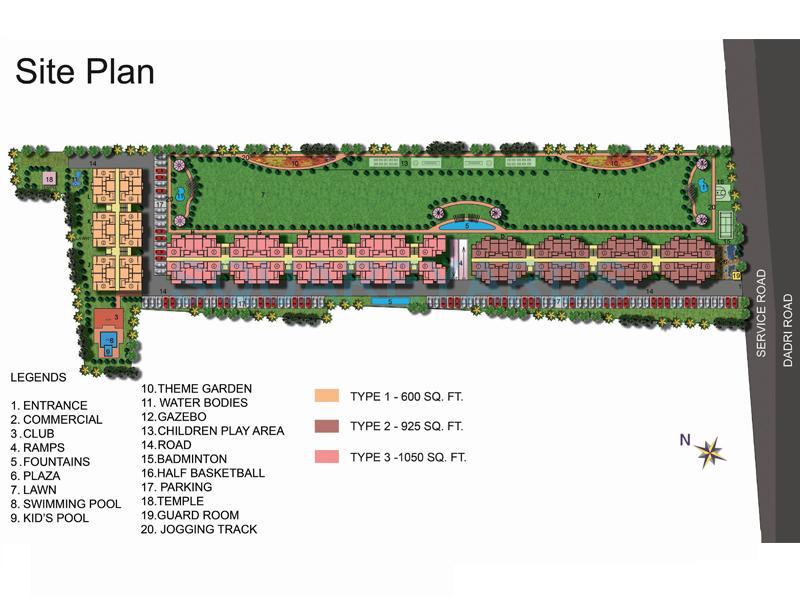 ekdant rawal residency master plan image1