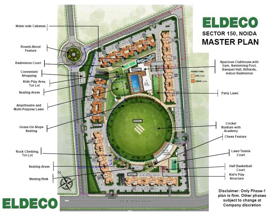 eldeco live by the greens master plan image1