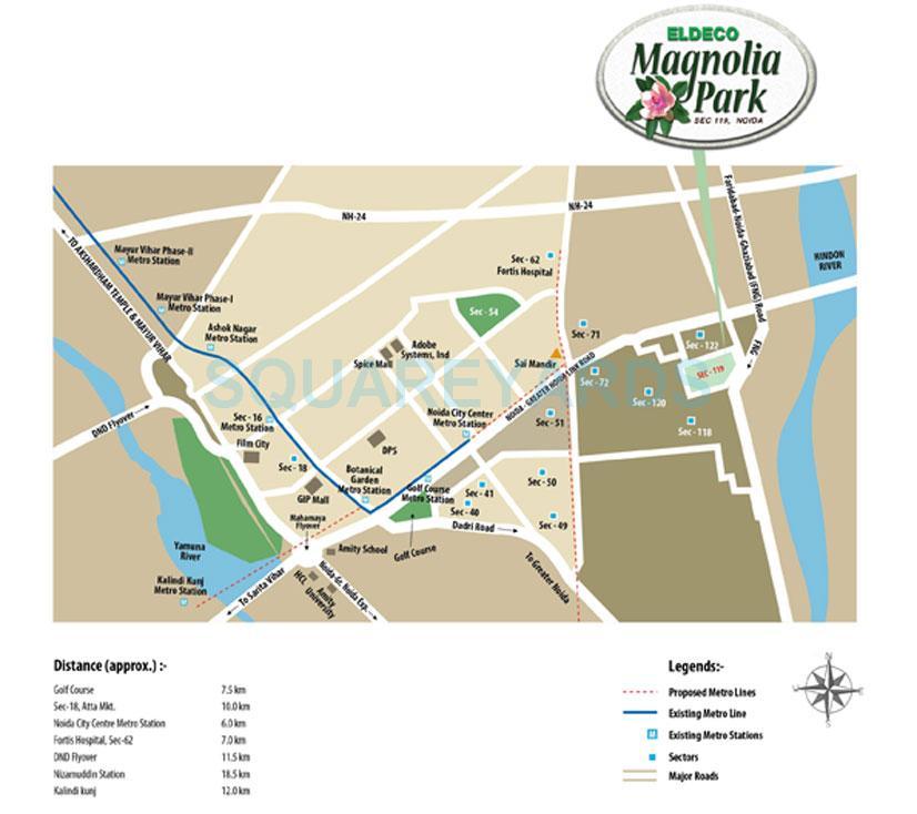 eldeco mangolia park location image1