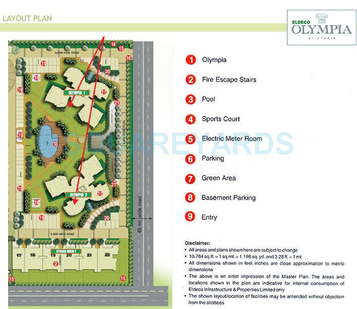 eldeco olympia master plan image1