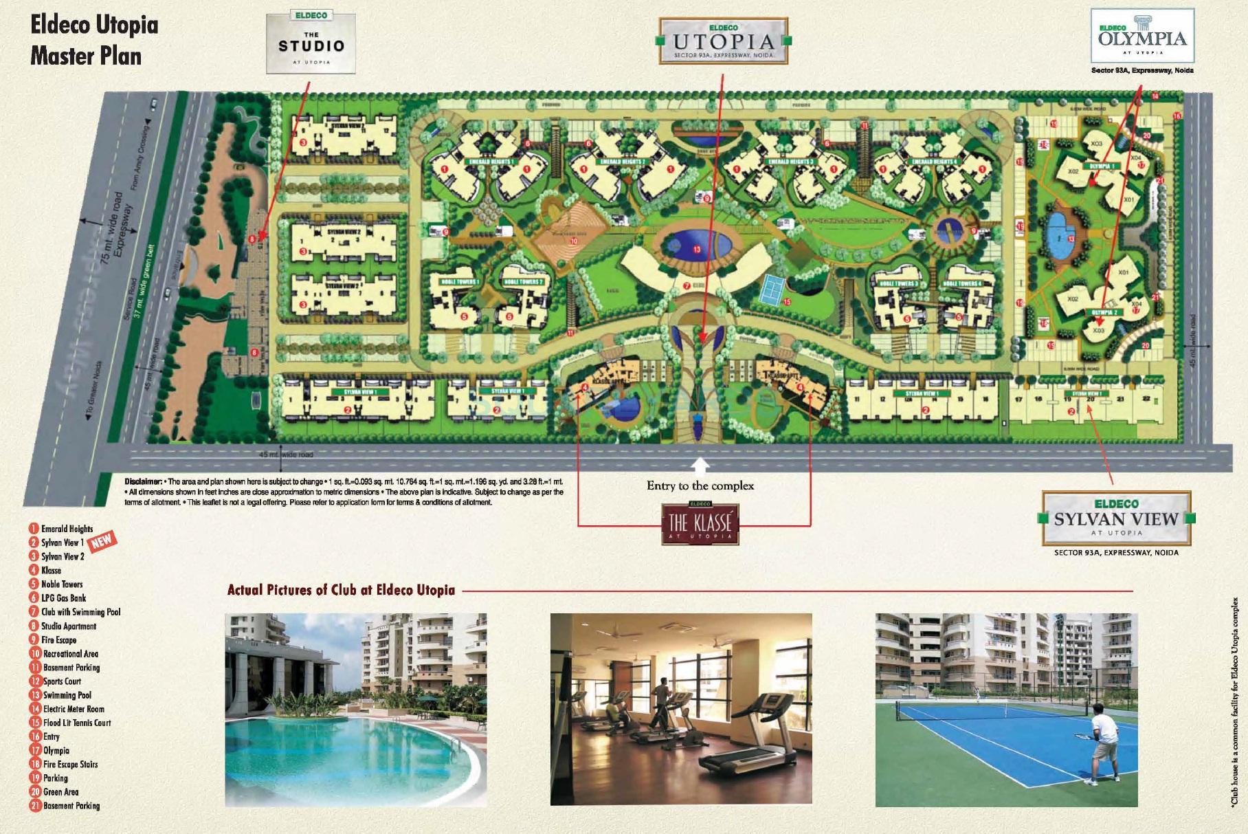 eldeco sylvan view master plan image1