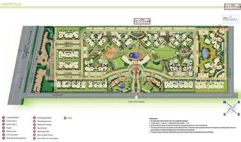 eldeco utopia project master plan image1