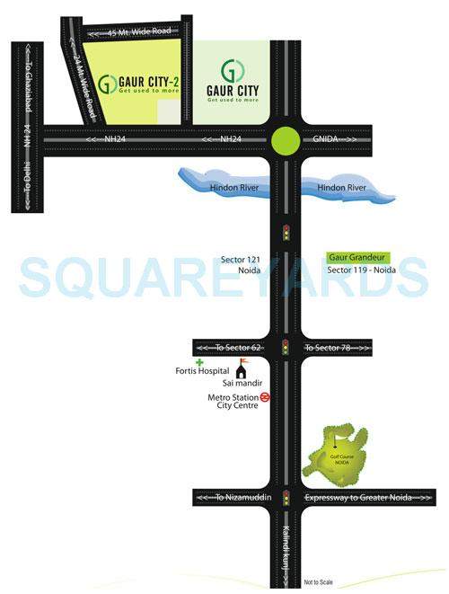 gaur city 2 14th avenue location image1