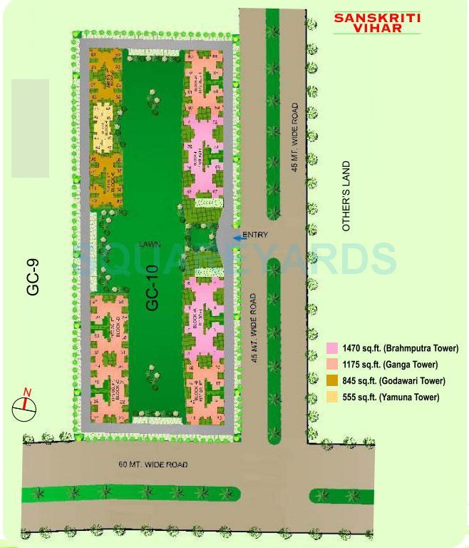 gaur city 2 sanskriti vihar master plan image1