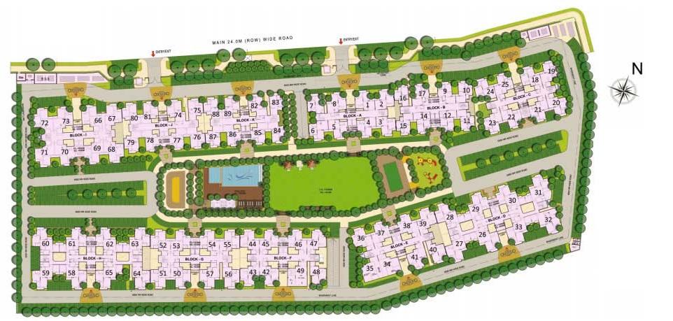 gaur city 5th avenue master plan image9