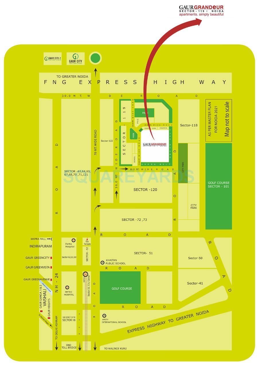 gaur grandeur location image1