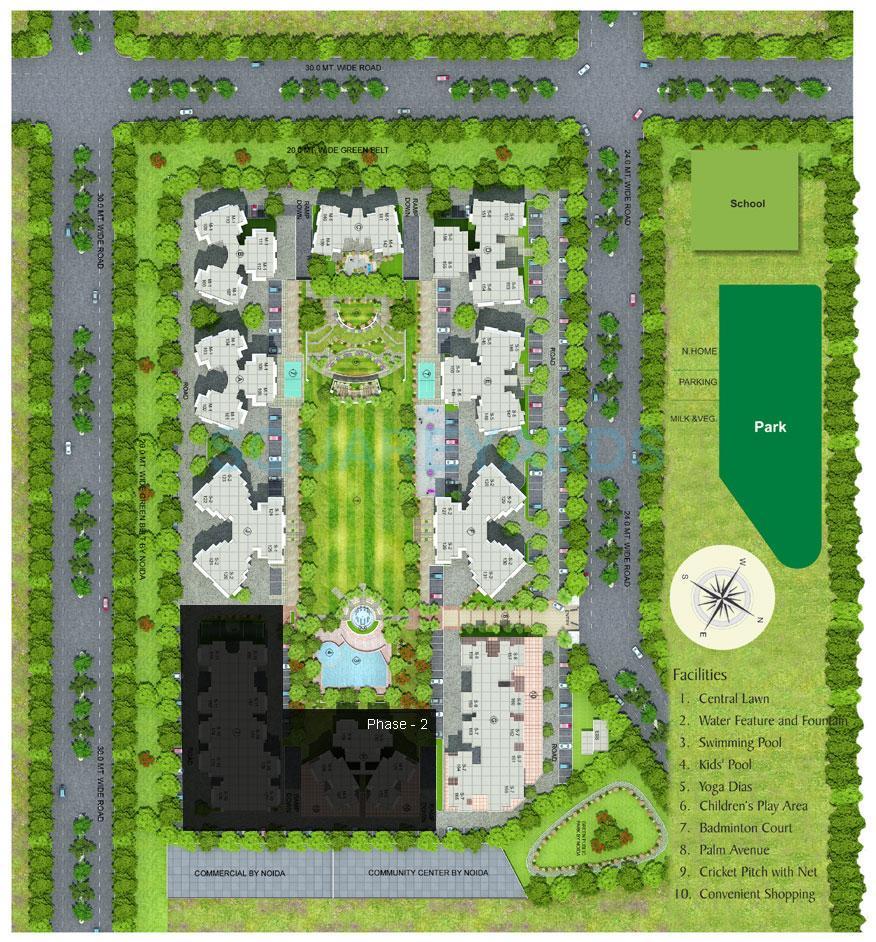 gaur grandeur master plan image1