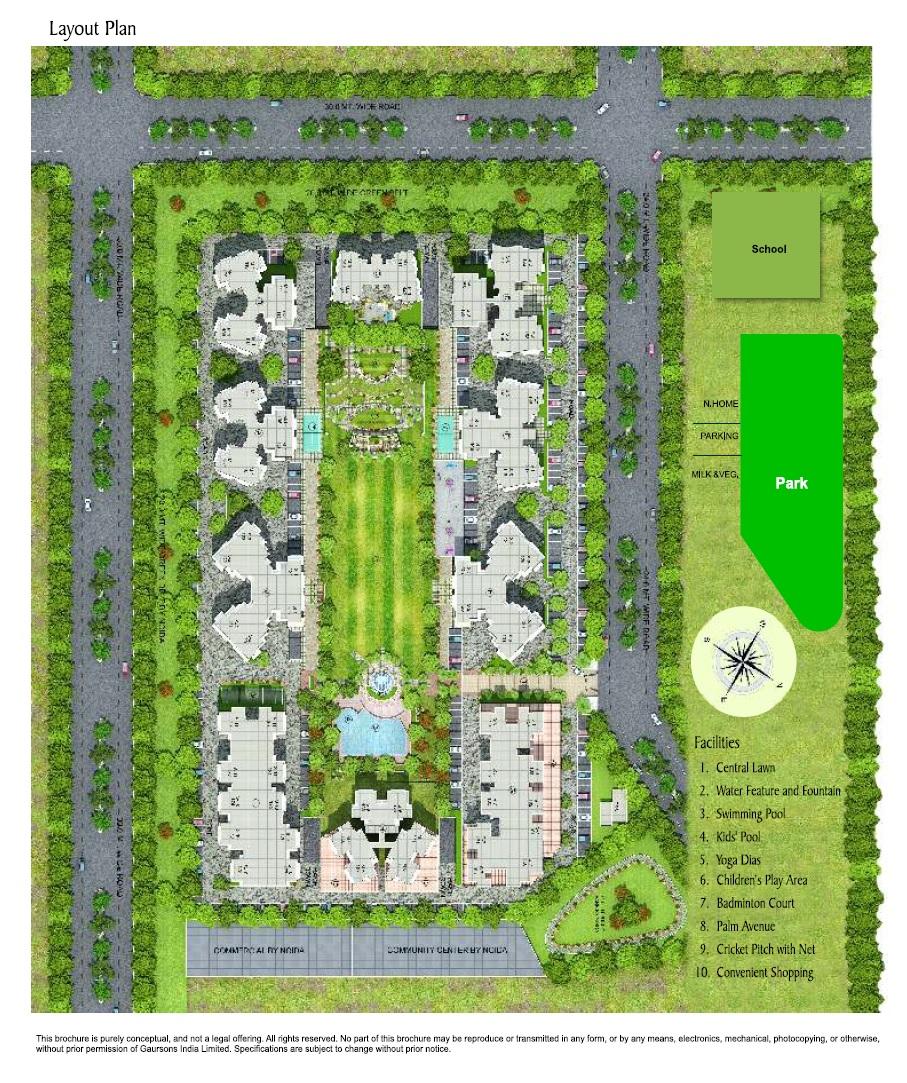 gaur grandeur master plan image9