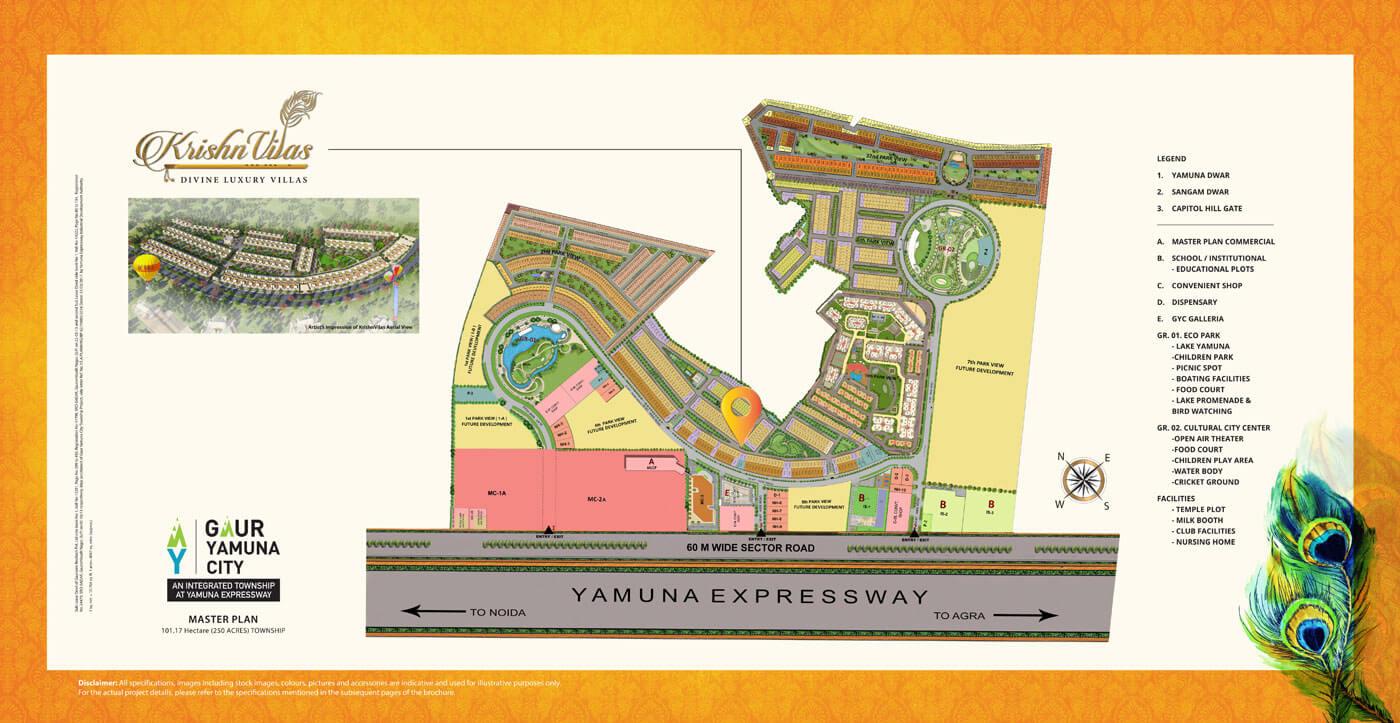 gaur krishnvilas master plan image1