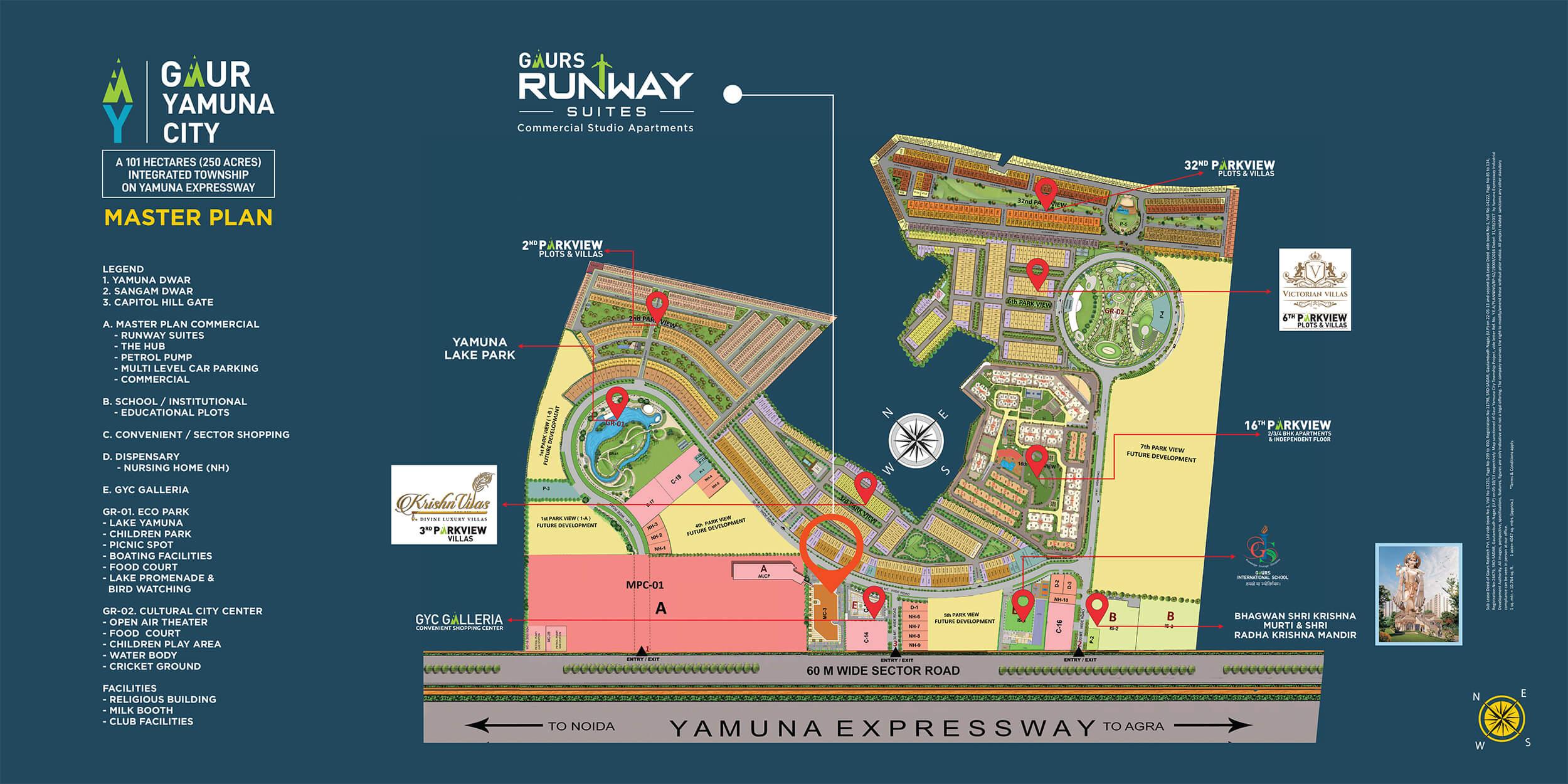 gaur runway suites master plan image1