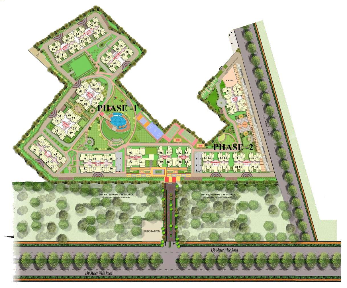 gaur saundaryam project master plan image1
