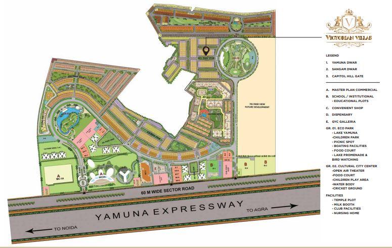 gaur victorian villas 6th parkview master plan image5