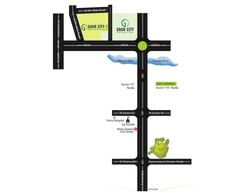 gaur world street location image2