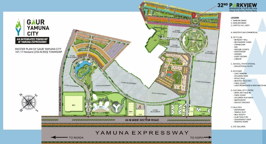 gaur yamuna city 32nd park view master plan image1