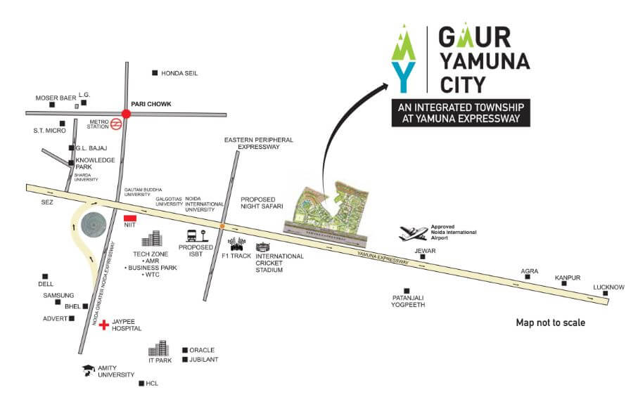 gaur yamuna city 6th park view location image1