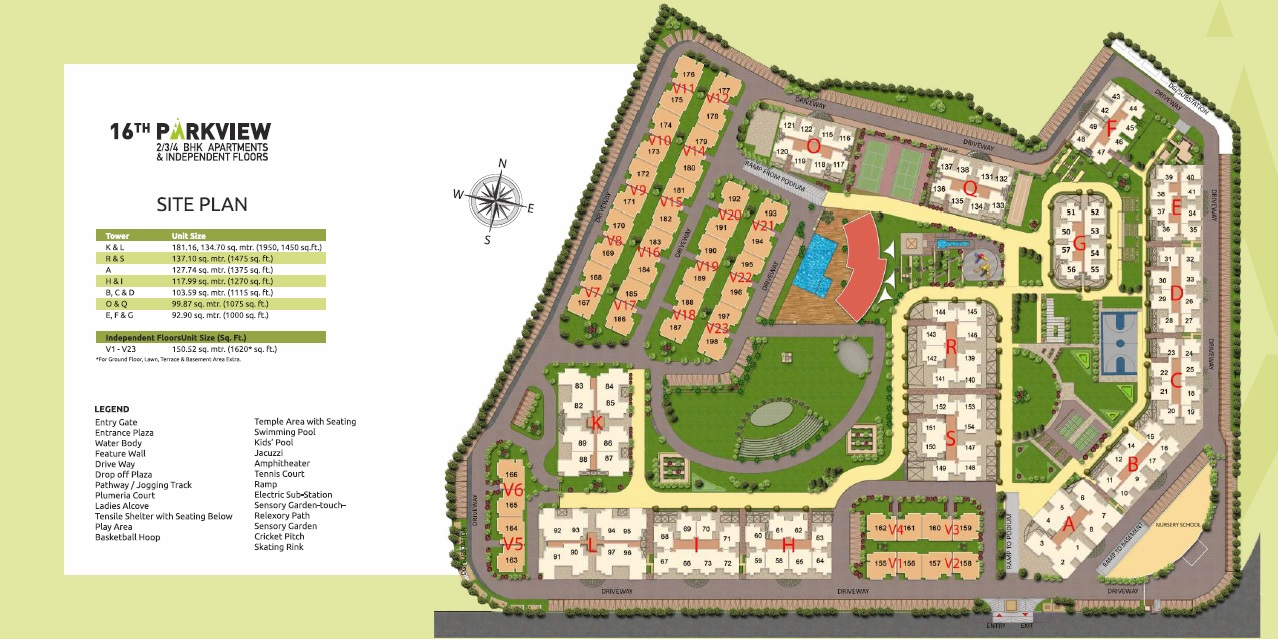 gaurs 16th parkview independent floors project master plan image2