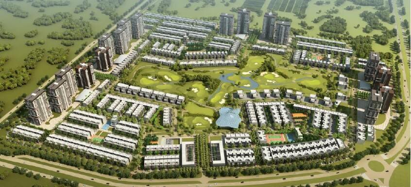 godrej golf link villas master plan image1