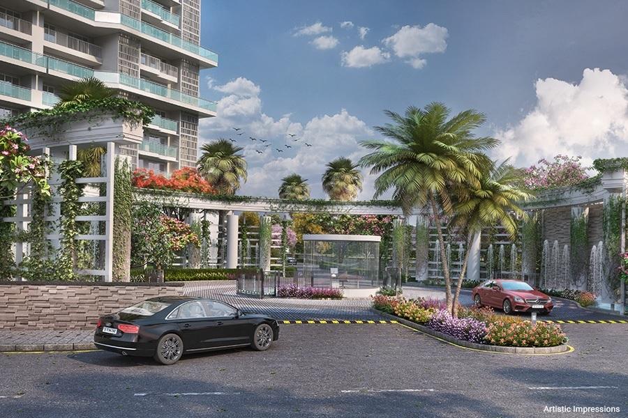 godrej palm retreat entrance view8