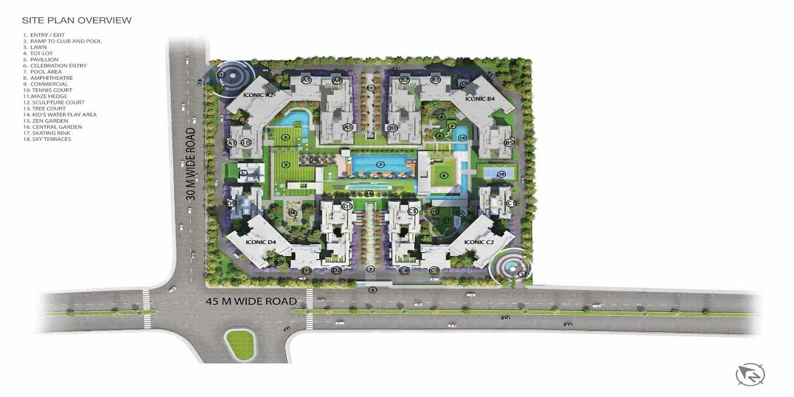 godrej palm retreat master plan image5