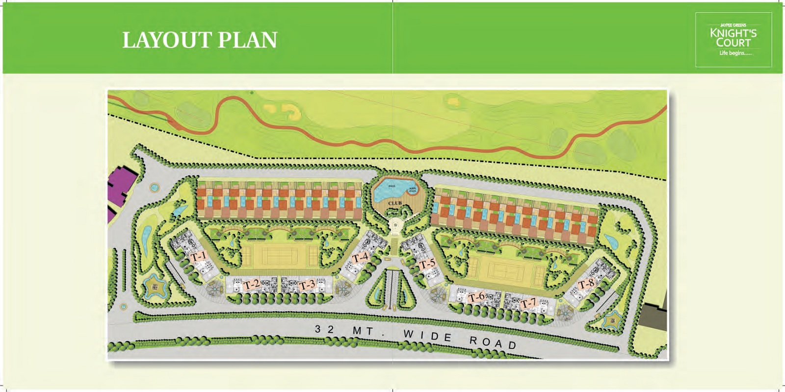 jaypee greens knight court master plan image7