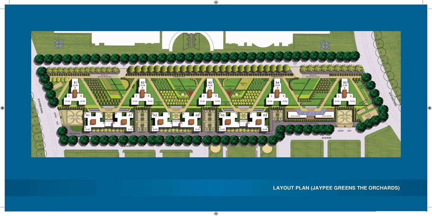 jaypee greens the orchards project master plan image1