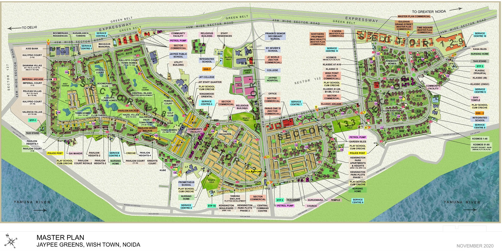 jaypee greens the orchards project master plan image2