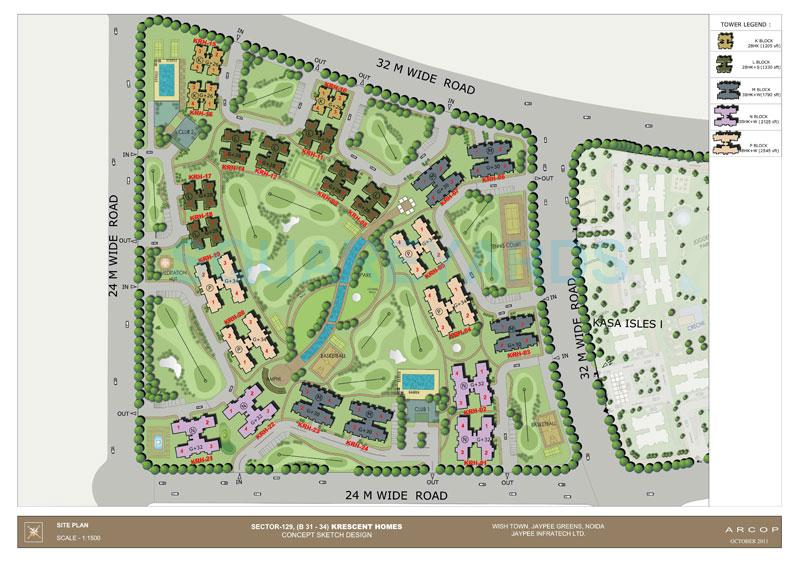 jaypee krescent homes master plan image1