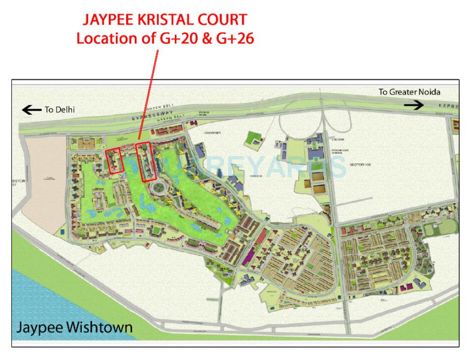 jaypee kristal court location image1