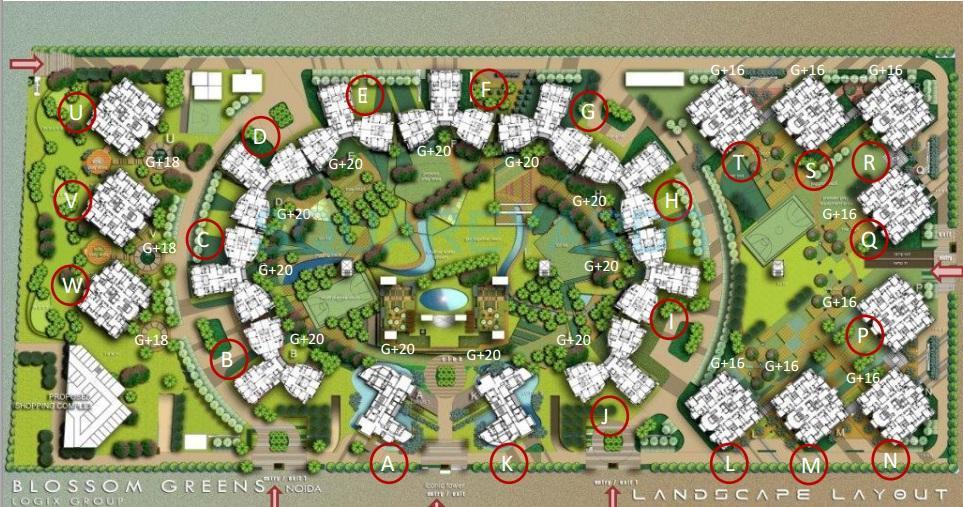 logix blossom greens master plan image1