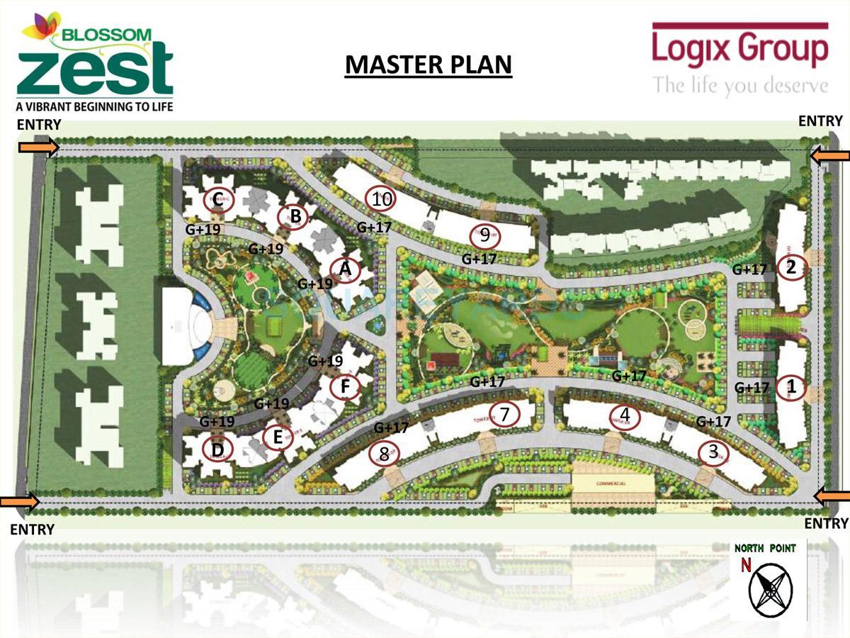 logix blossom zest master plan image1