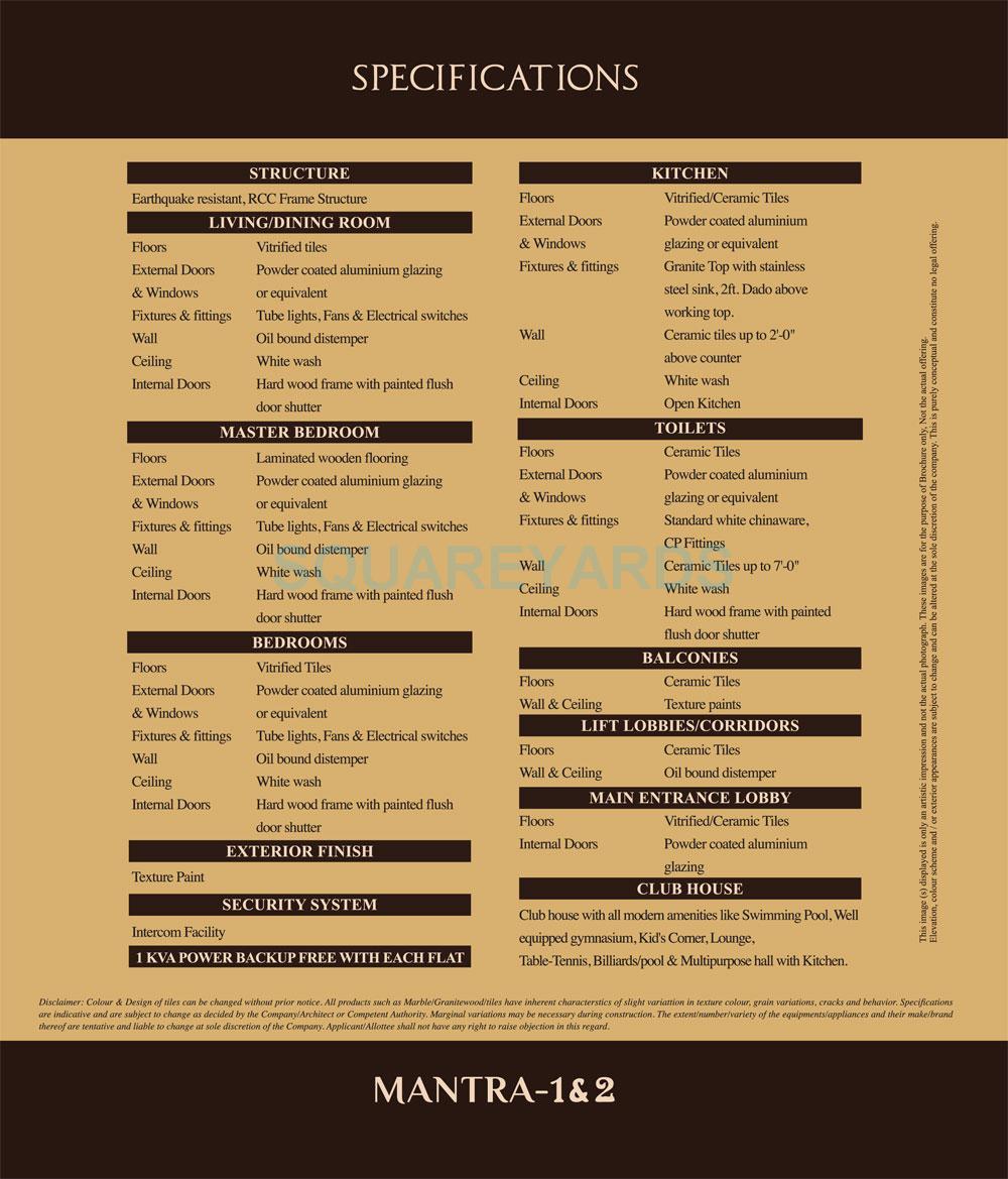 mahagun mantra 1 specification1
