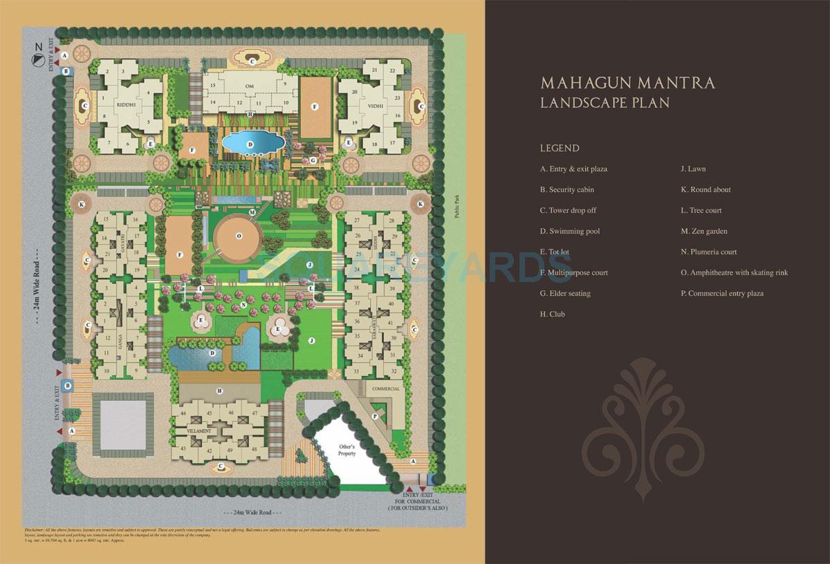 mahagun mantra ii villaments master plan image1