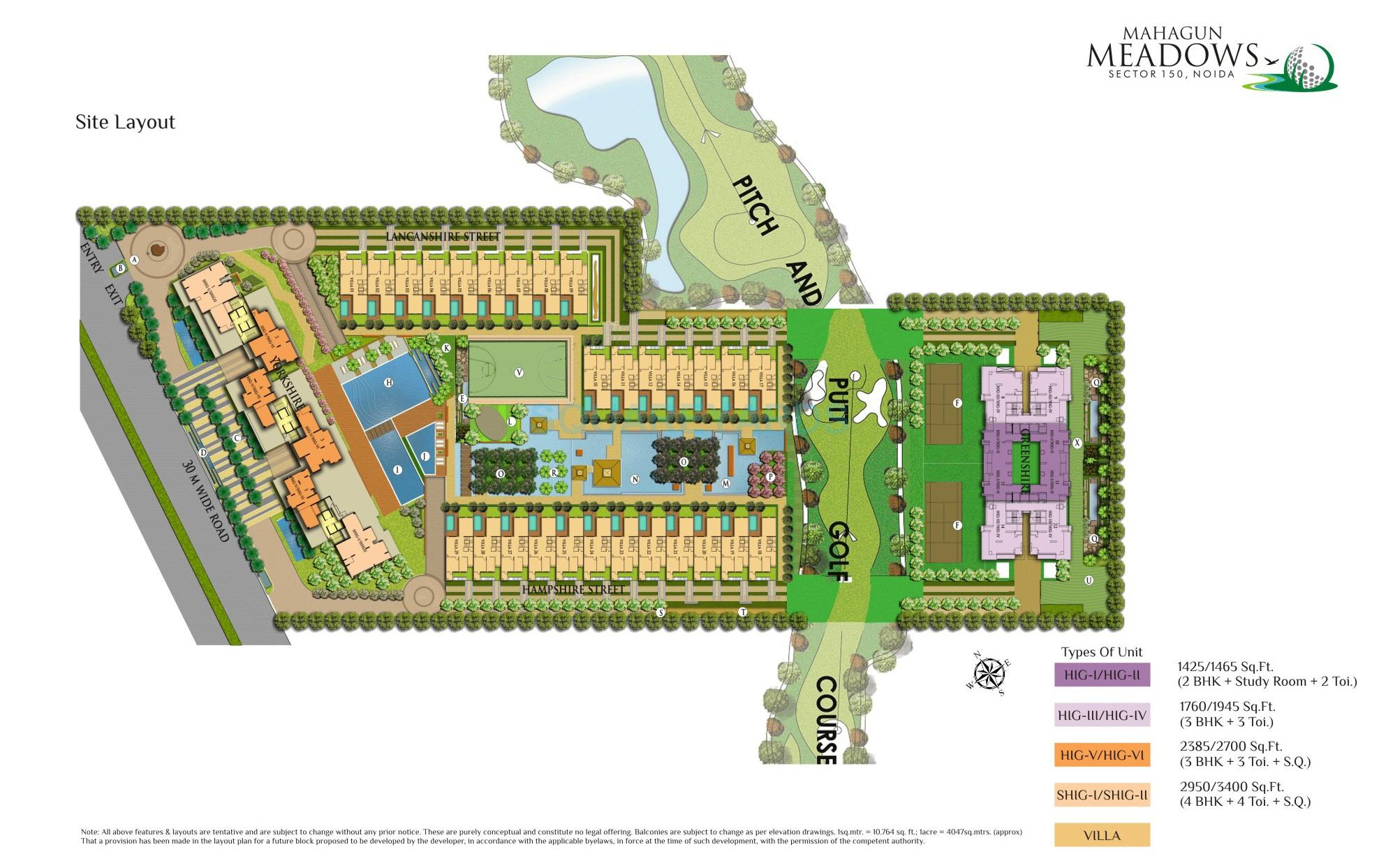 mahagun meadows master plan image1