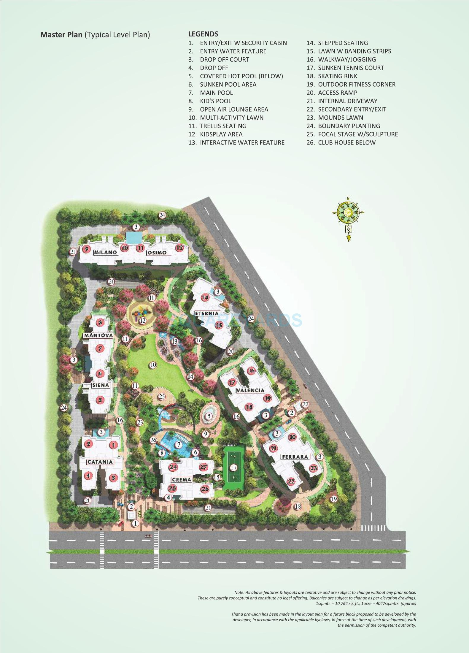 mahagun mezzaria master plan image1