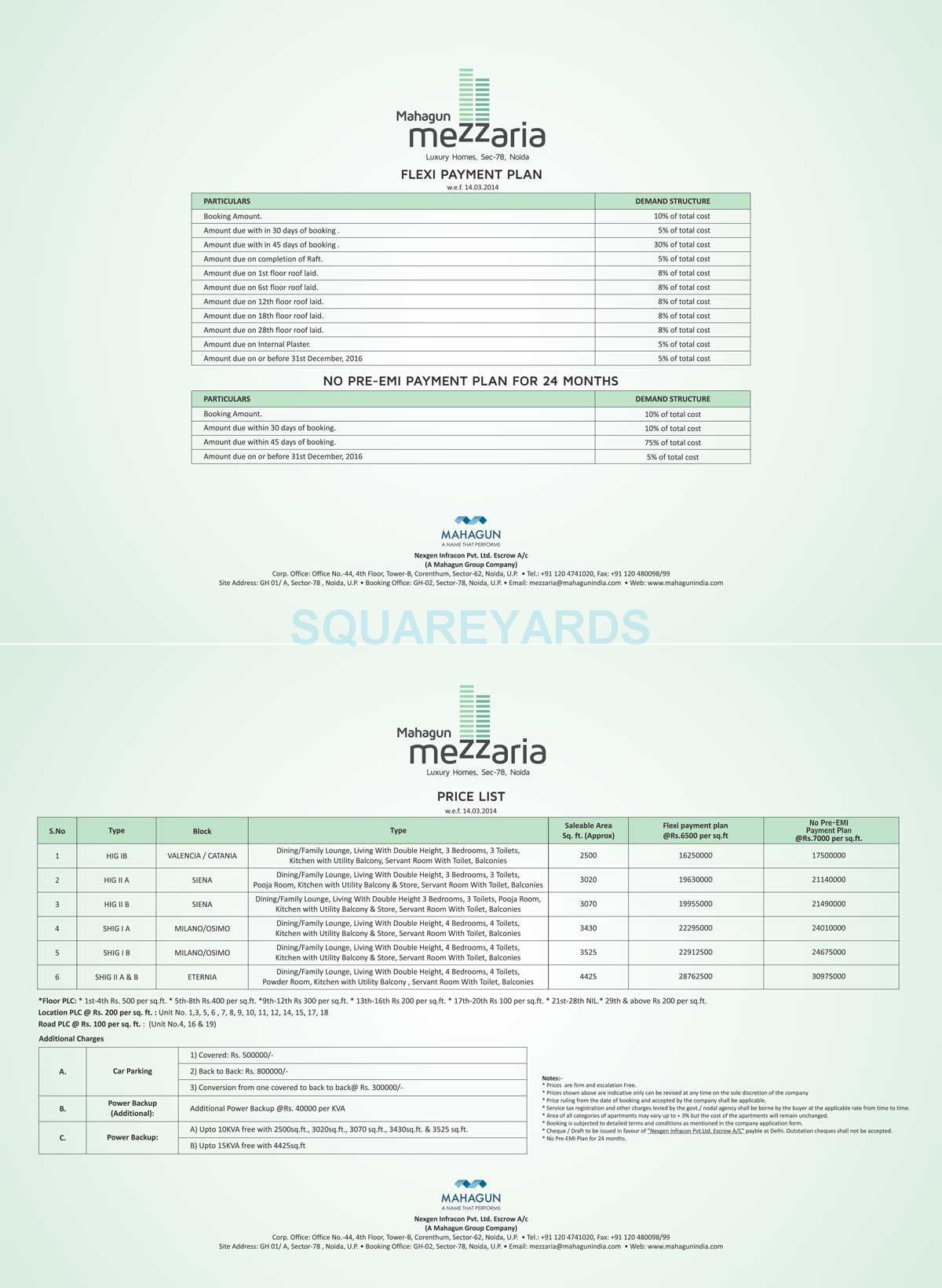 mahagun mezzaria payment plan image1