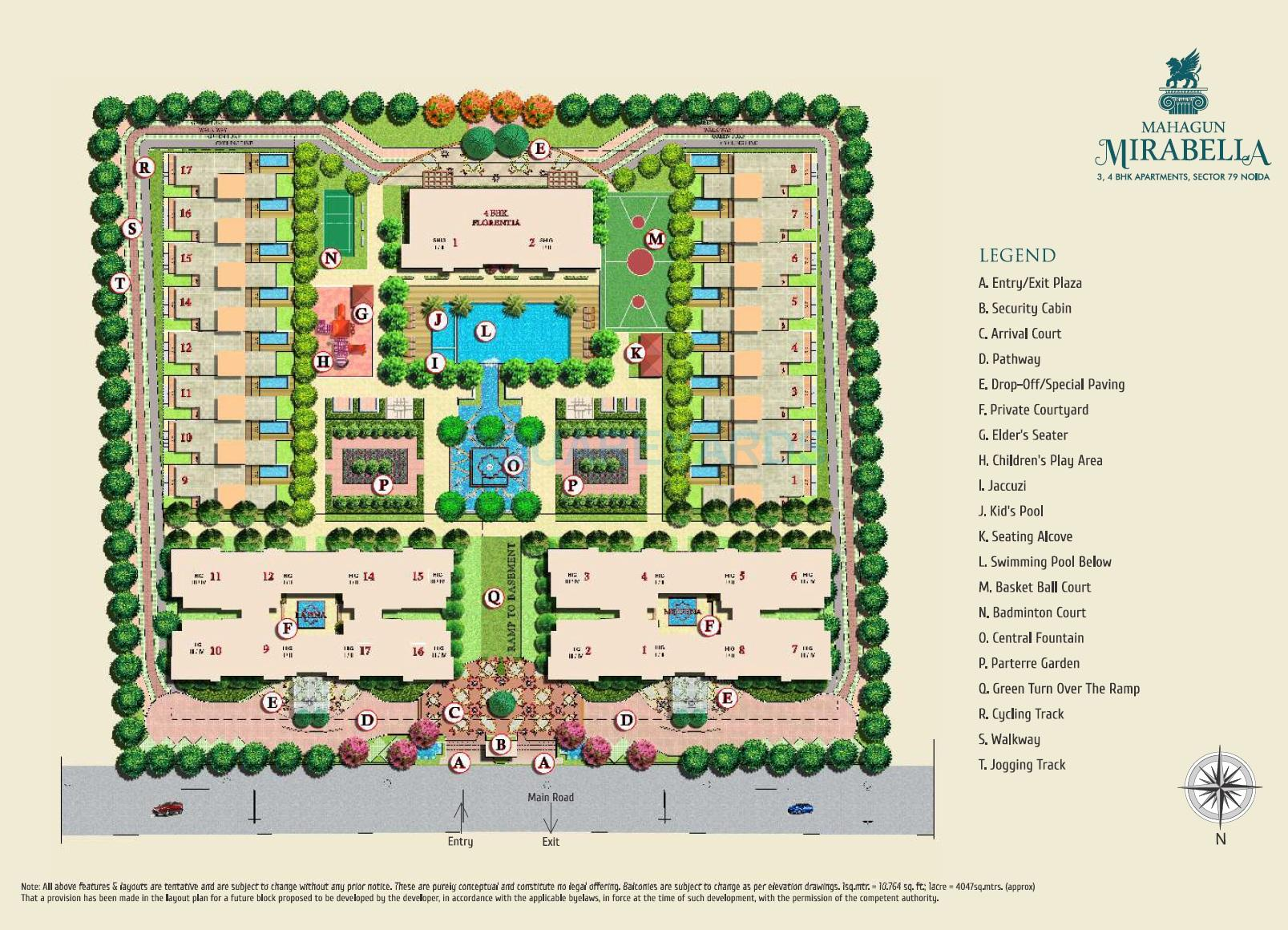 mahagun mirabella master plan image1