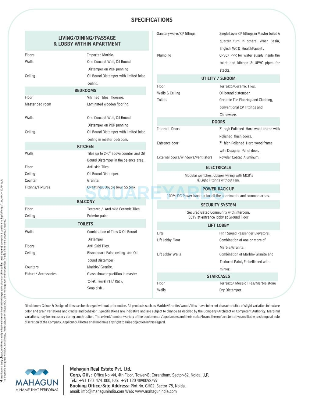 mahagun moderne avlon betina specification1