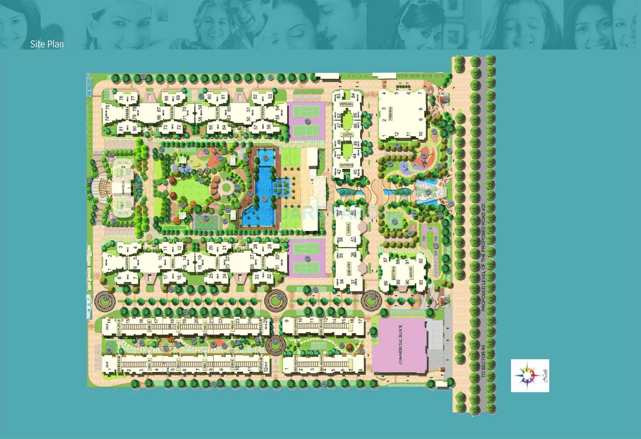 mahagun moderne verona master plan image1