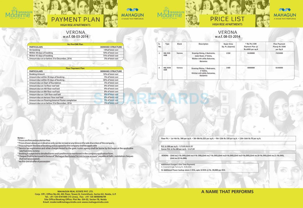 mahagun moderne verona payment plan image1