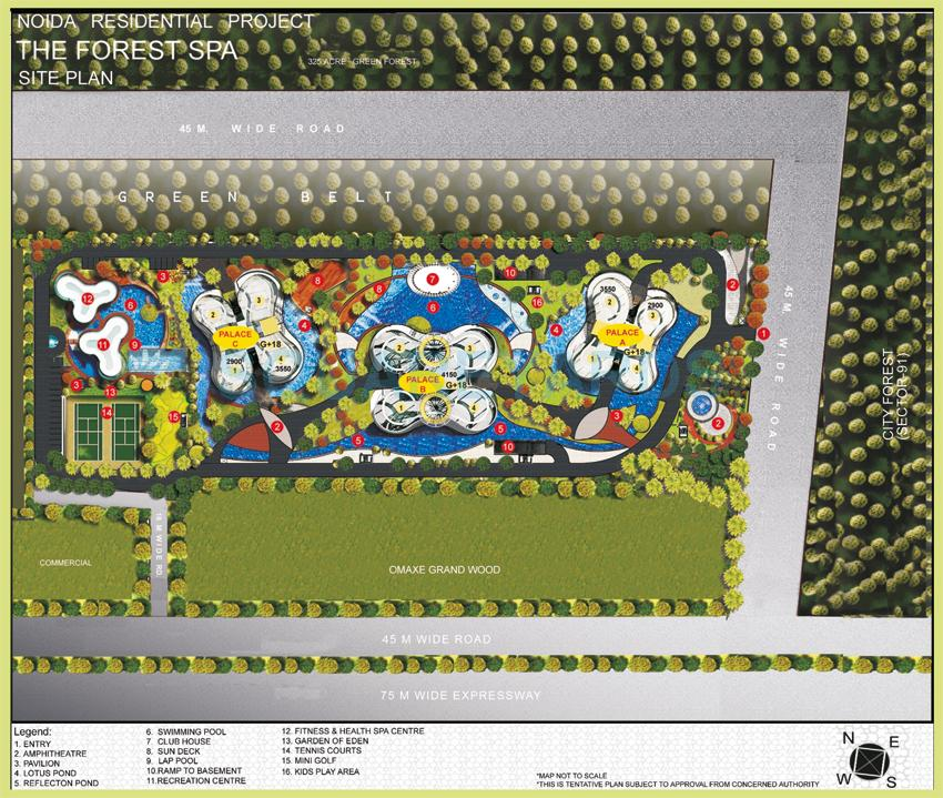 omaxe forest spa master plan image1