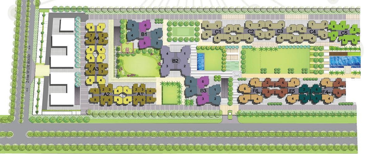 panchsheel greens master plan image6